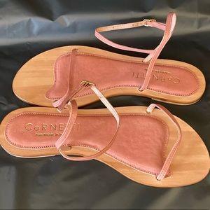 NWOT cornetti sardinia  in rose sandals